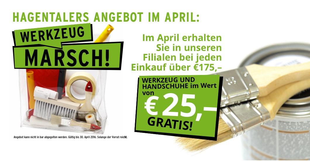 HT Hagentaler Farben und Lacke Aktion April 2016 Werkzeug Konditionen